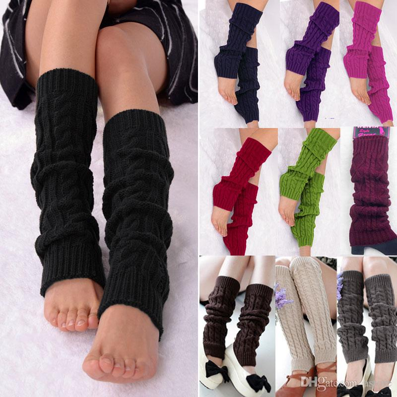 Hot Sales Ladies Women Dance Knitted Leg Warmers Warm Socks Stocking Hosiery Legging Boot Covers fx279 Free Shipping
