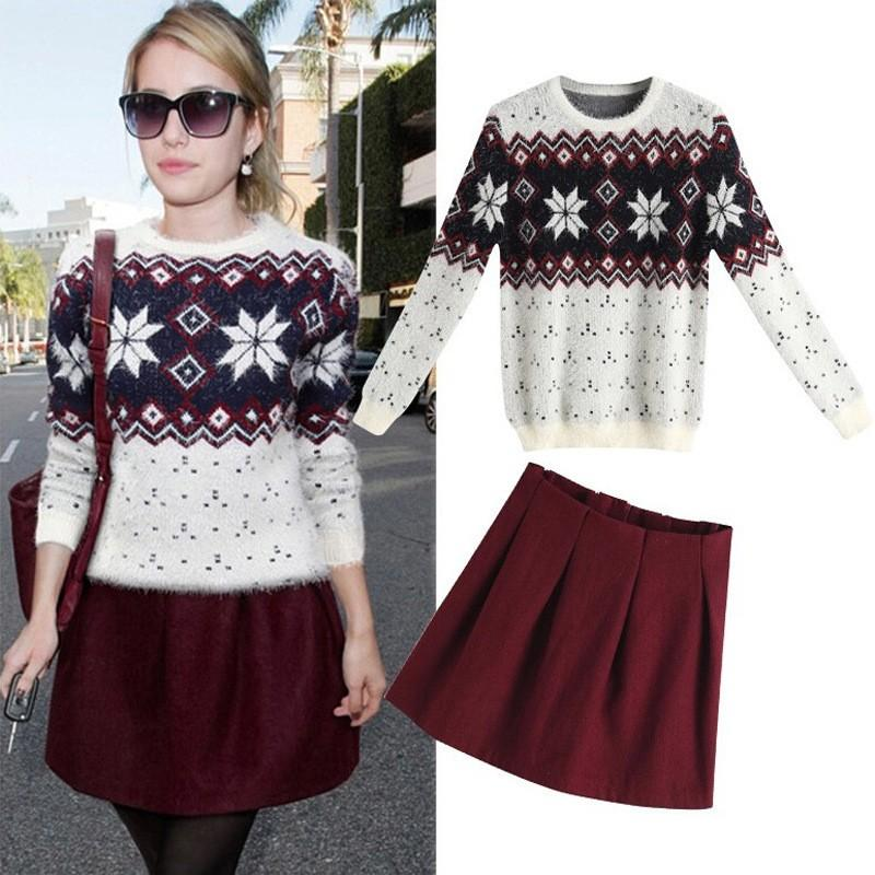 New Arrival Spring and Autumn Europe and United Stated Popular Mohair Pullover Knitted Sweaters Long Sleeve O Neck Sweater Outfit Cardigan