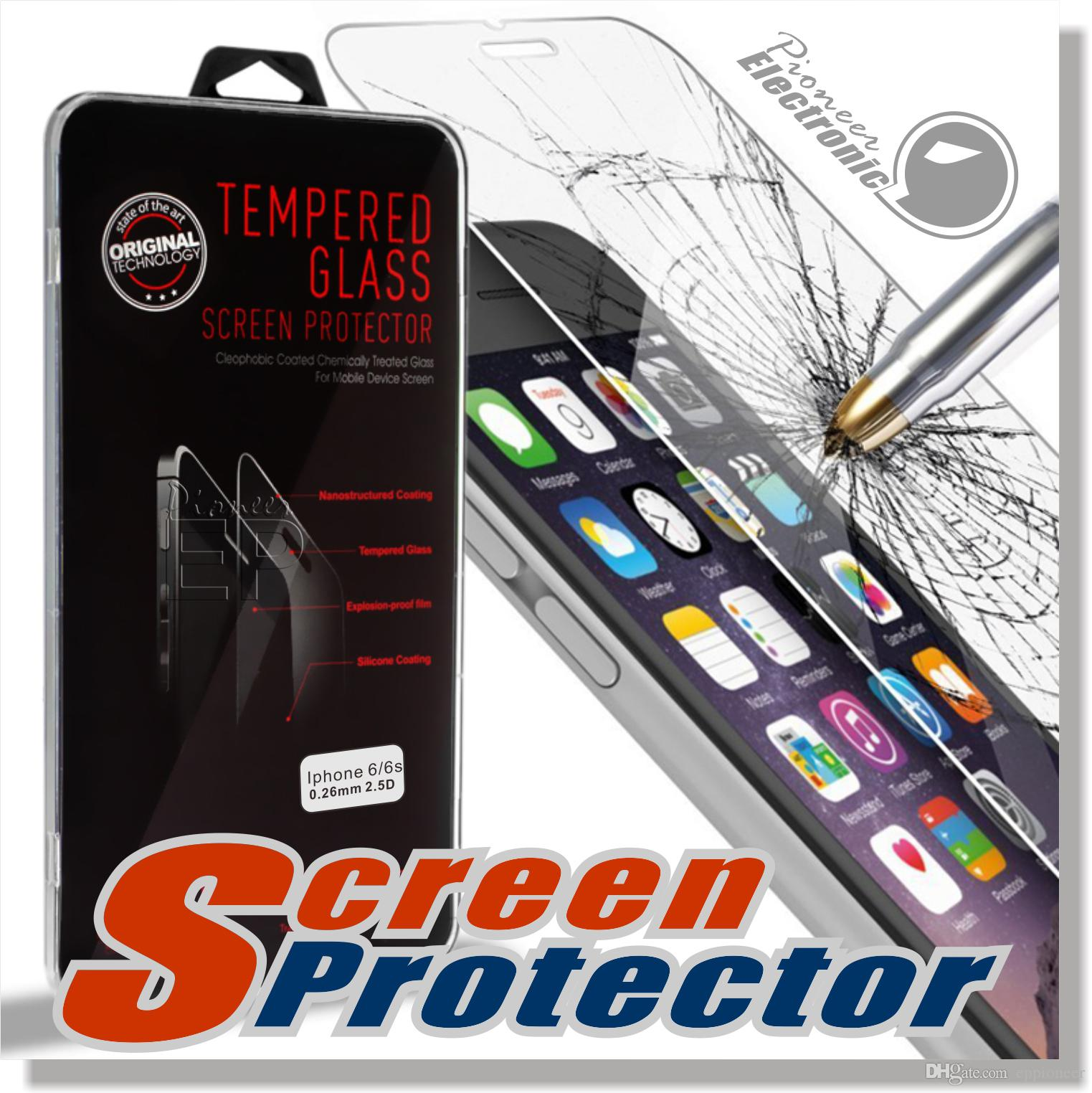 For Iphone 7 7 plus 6s plus LG Aristo V3 Screen Protector Film Tempered Glass For Samsung S5 S6 S7 EP Premium quality retailbox