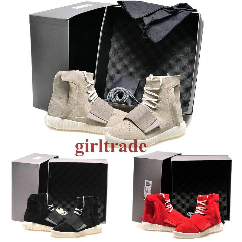 Free DHL shipping Brand New Mens Shoes 750 Boost Athletic Boots Ankle Boots Basketball Shoes With Shoes Box Sports Boot