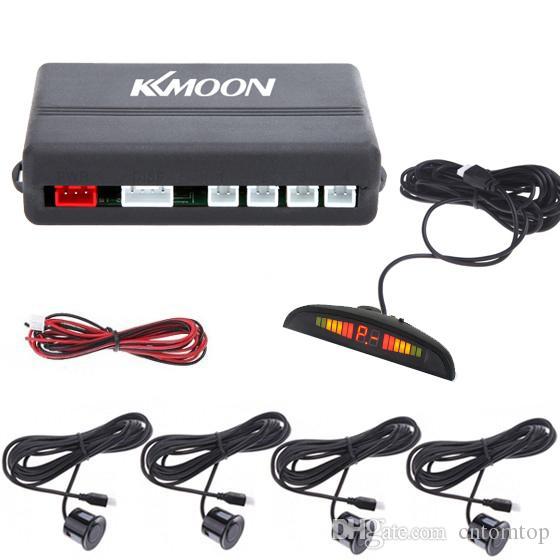 LED Display Indicator Parking Car Reverse Radar Kit 4 Sensors System 12v Black Sliver DHL K412