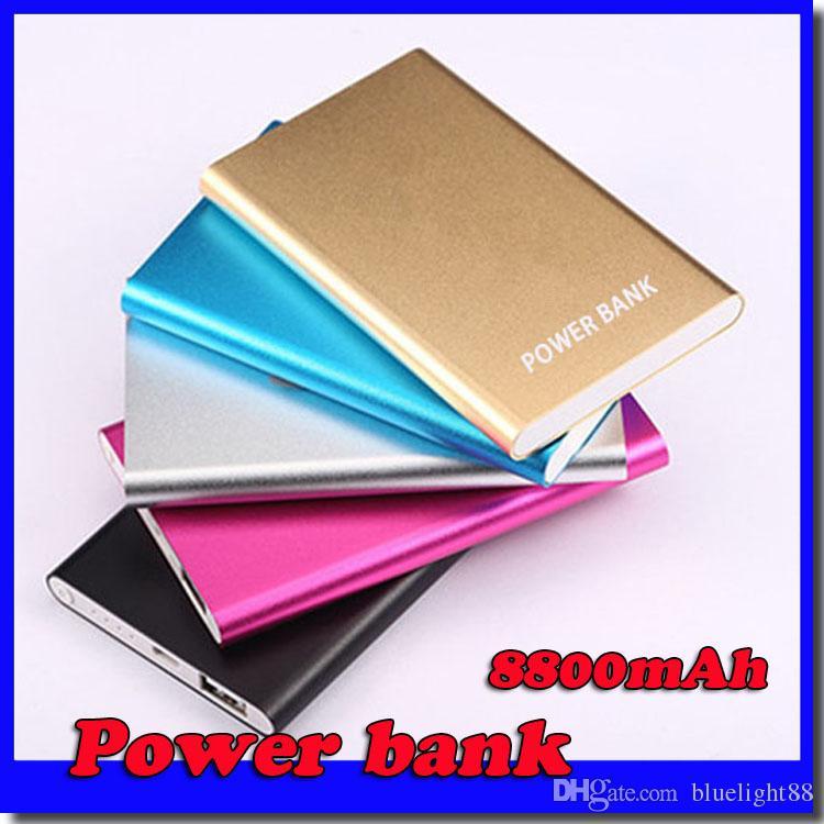 Wholesale Ultra thin slim powerbank 8800mah xiaomi power bank for mobile phone Tablet PC External battery