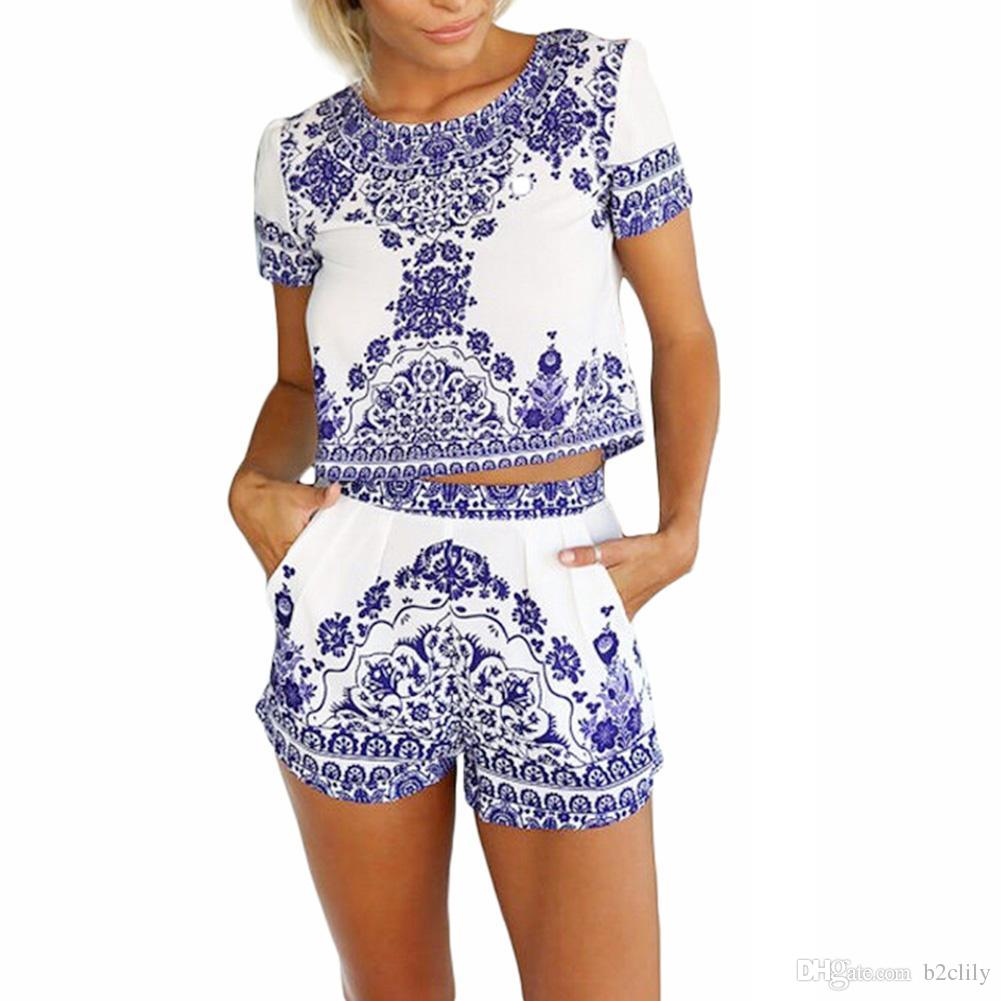 S5Q Vintage Women Floral Casual Clubwear Playsuit Bodycon Party Romper Jumpsuits AAAEQF