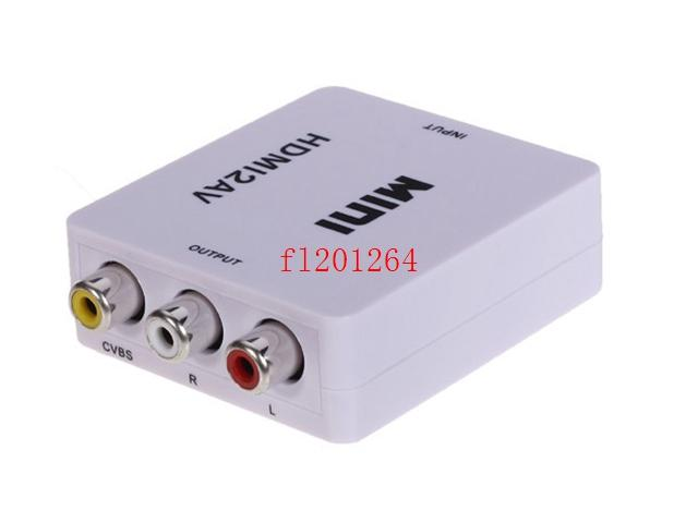 DHL Free Shipping HDMI2AV 1080P HD Video Adapter mini HDMI to AV Converter CVBS+L/R HDMI to RCA,20pcs/lot