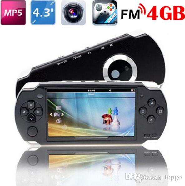 """Portable 4.3"""" 8GB MP5 Game Player 1.3MP Camera PMP MP3 MP4 Multimedia Console Recorder free 2000 Games FM TV out"""