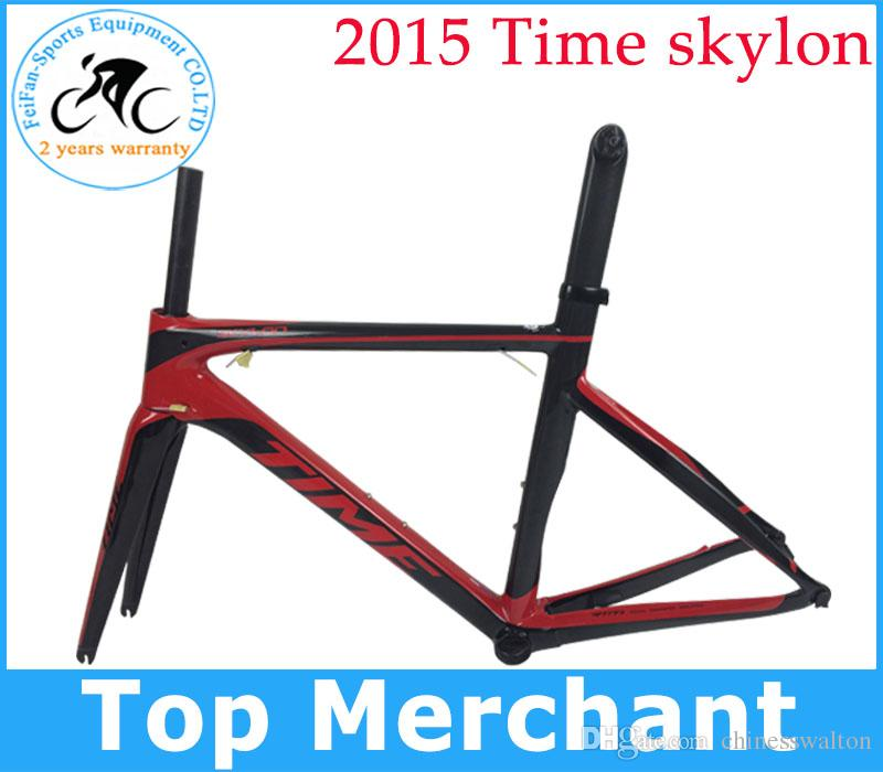 Time skylon carbon road bicycles frames racing bike frameset brake wind bike BB386 BB30 BB68 with frok seat post frame clamp free shipping