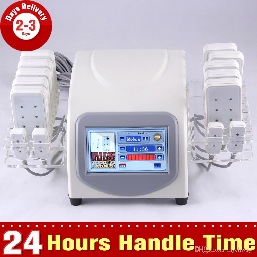 New Fat Loss 5mw 635nm-650nm Lipo Laser 14 Pads Cellulite Removal Beauty Body Shaping Slimming Machine