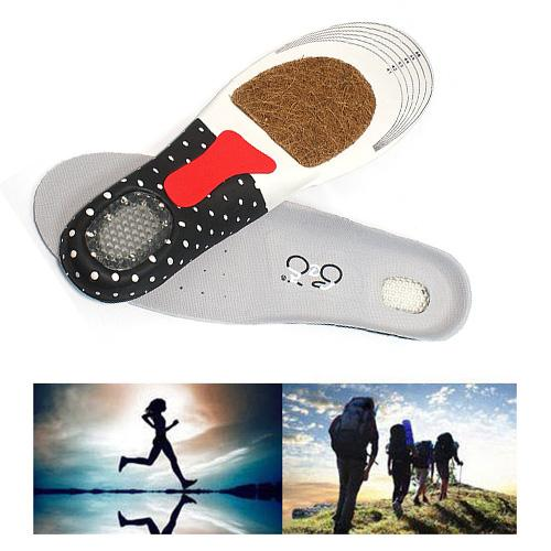 S5Q Mens Gel Sport Insoles With Deodorant Arch Support Heel Cushion Full Length AAABCQ