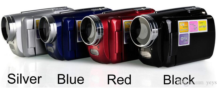 2016 hot sale DV139 12MP 1.8 inch Digital Video Camera 4x Zoom Flash Light Support Multi-language DHL free ship YEYS