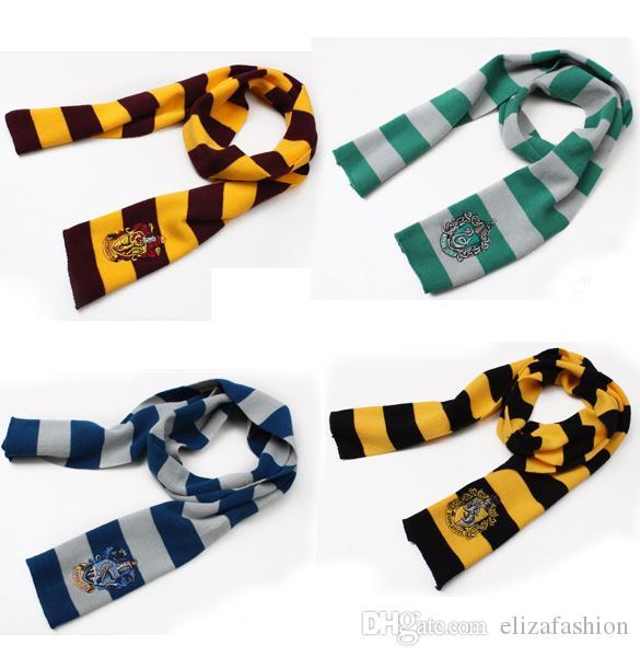 Harry Potter Scarf Gryffindor School Unisex Knitted Striped Scarf Gryffindor Scarve Harry Potter Hufflepuff Scarf Cosplay