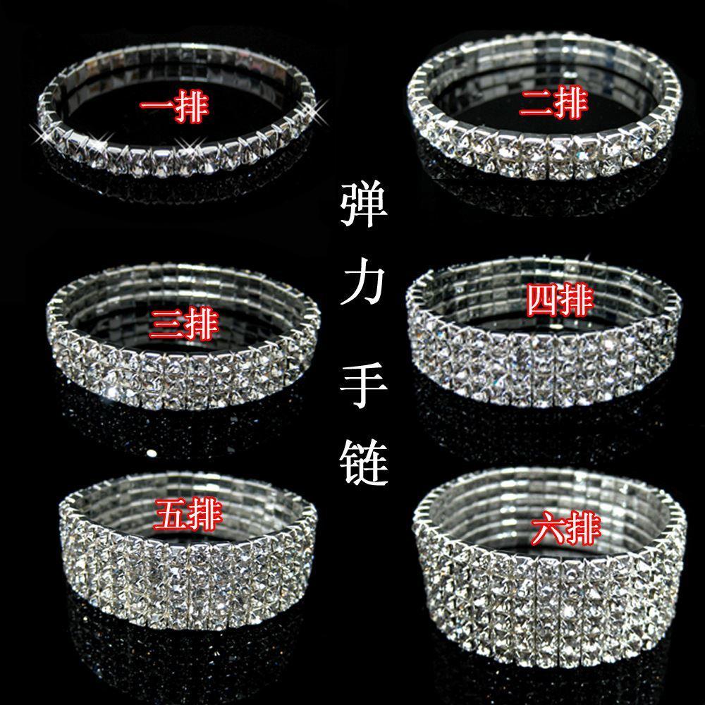 1 row 2 row 3 row 4 row Tennis bracelet Bridal jewelry rhinestone bracelet cystl stretch bracelets bridal wedding rhinestone bracelet
