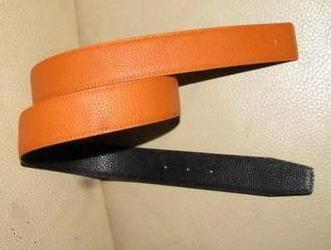 32 mm reversible togo leather strap ( belt ) with Gold Silver buckle . many colors