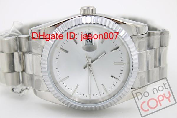 Luxury White Face 36mm Men Steel Watches Automatic Mechanical 16220 Watch Date Dial men Fashion Brand Wristwatches
