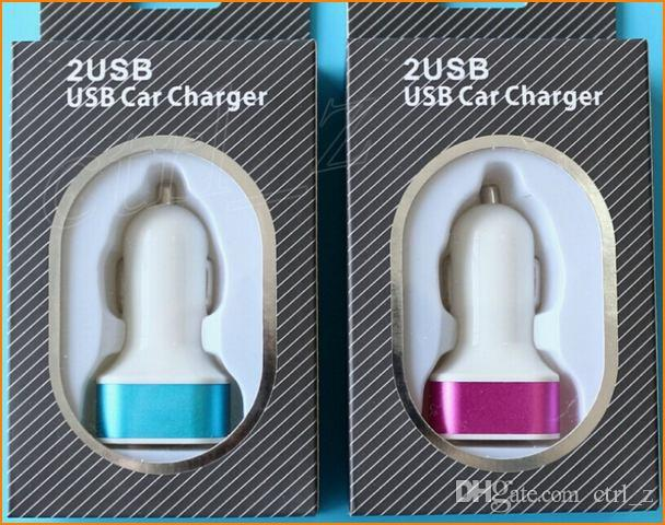 2 usb car charger 5V/2A dual port charger adapter for iphone 6 plus 5s 5 4s samsung s6 charger tablet ipad air