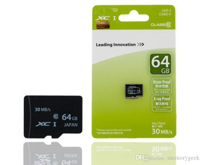 Good quality 16GB 32GB 64GB Micro SD Card SDHC SDXC USH-1 Class10 TF Card Micro SD Card with retail package free shipping