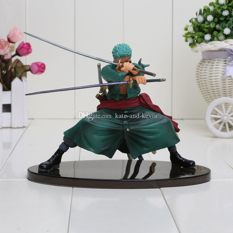 Cool Roronoa Zoro One Piece Animation Model P.O.P 13cm PVC Action Figure Beautiful Color Box