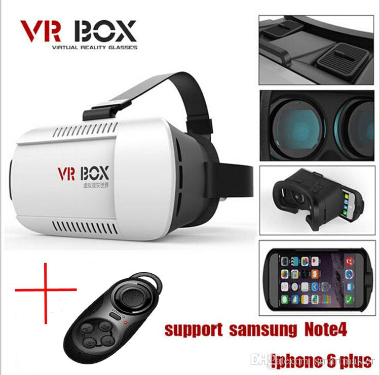 "Head Mount Plastic VR BOX Version VR Virtual Reality Glasses Rift Google Cardboard 3D Movie for 3.5"" - 6.0"" Smart Phone"
