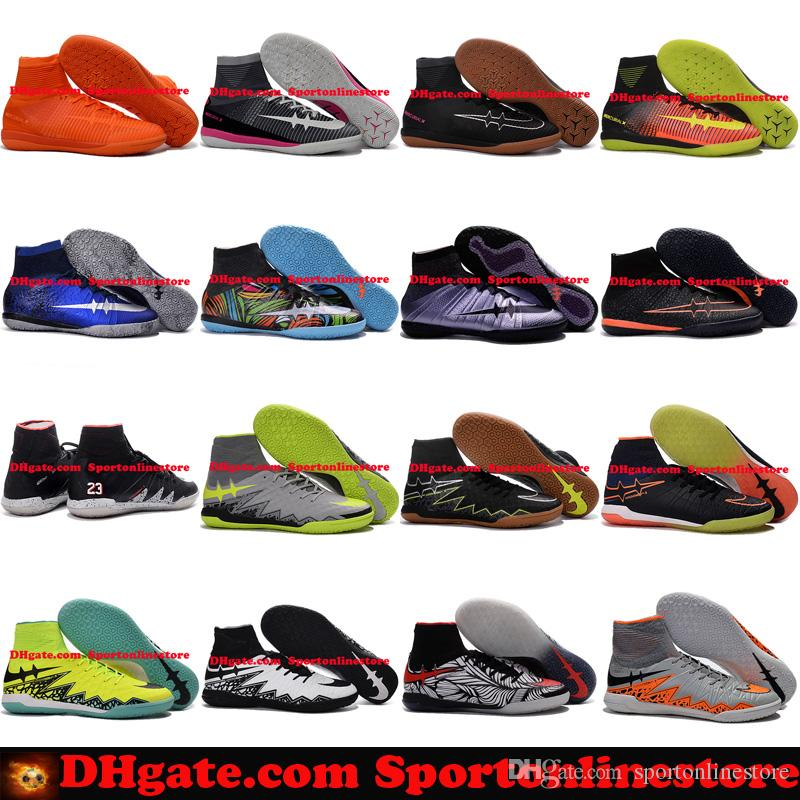Soccer Shoes Indoor IC MercurialX Proximo Elastico Superfly V Football Boots New Soccer Cleats For Men Scarpe Calcio Hypervenom Indoors JR