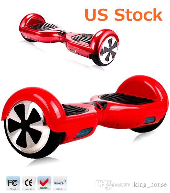 Stock in US 6.5 Inch Hover Board LED Scooter Self Balancing Scooters Smart Balance Wheel Hoverboard Fast Drop Shipping For Sale