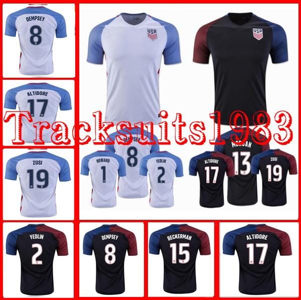USA Jerseys United States Shirt. DEMPSEY #8 DONOVAN BRADLEY ALTIDORE 2016 America Cup Home Away 2016 2017 Wholesalers rugby