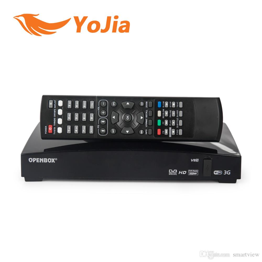 10pcs Openbox V8S Satellite Receiver S V8 SV8 Support WEBTV Biss Key 2x USB Slot USB Wifi 3G Youtube Youporn CCCAMD NEWCAMD