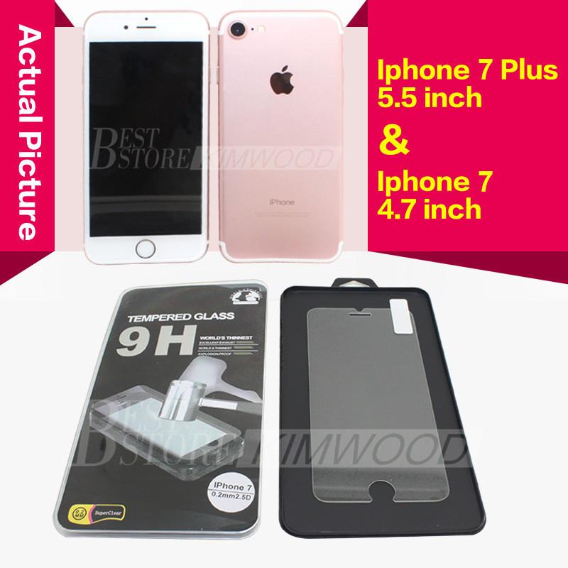 For Iphone 7 Plus Iphone 6S Plus 5S Top Quality Tempered Glass Film Screen Protector 0.2MM 2.5D Ship within 1 day