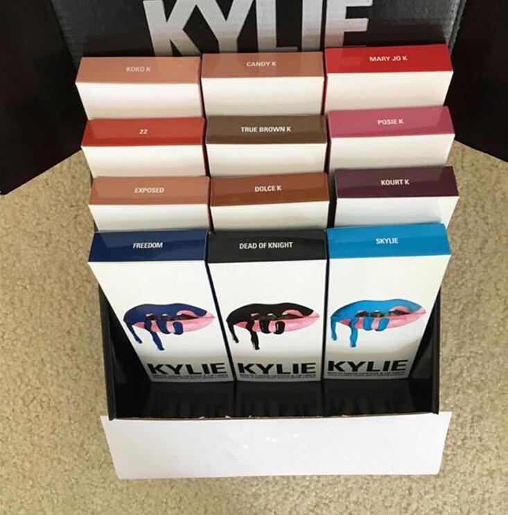 28 Colors JENNER LIP KIT Kylie Matte Liquid Lipstick & Lip Liner Kylie lip Velvetine in Red Velvet Makeup 1set=1lipstick+1lipliner Smile