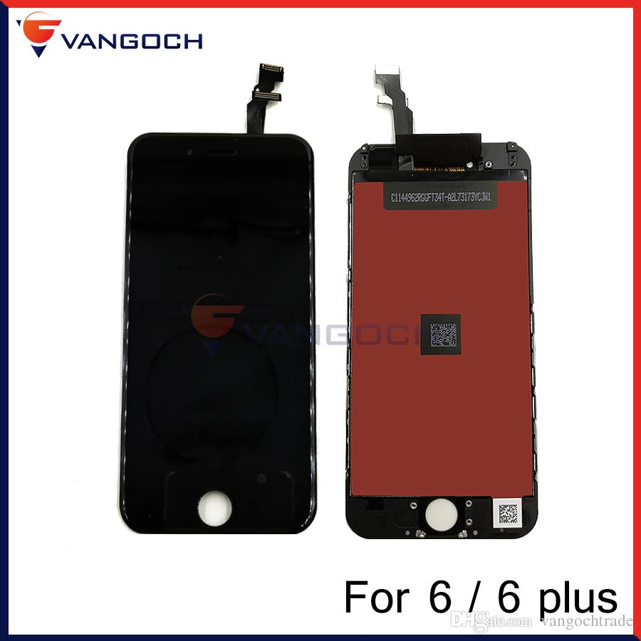 Grade A+++ LCD Display Touch Screen Digitizer Assembly With Frame Repair Replacement For iPhone 6 iPhone 6 plus