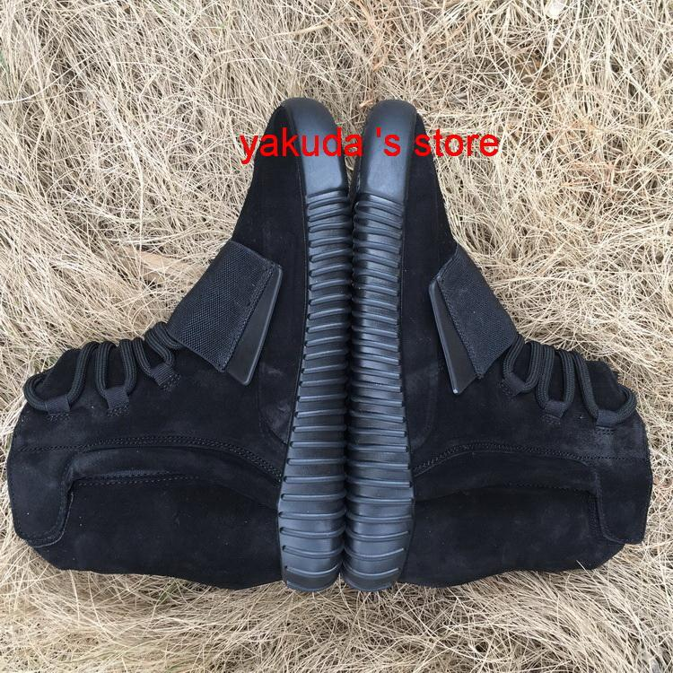 2016 new Mens Boost 750 Blackout Outdoors Sneaker,discount Cheap Hot Selling 750 Boost, Skateboard Shoes,Sneakeheads Shoe High Shoe