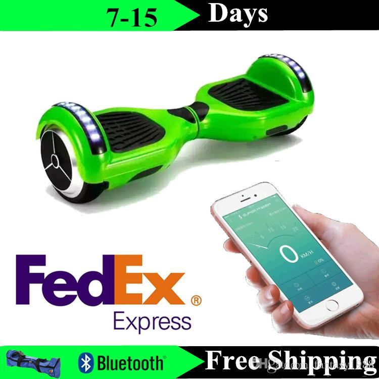 Upgrade Phone APP LED Sooters Electric Self Balancing Wheels Hoverboard Bluetooth Skateboard 6.5 Inch Two Wheels Drift Board Drop Shipping