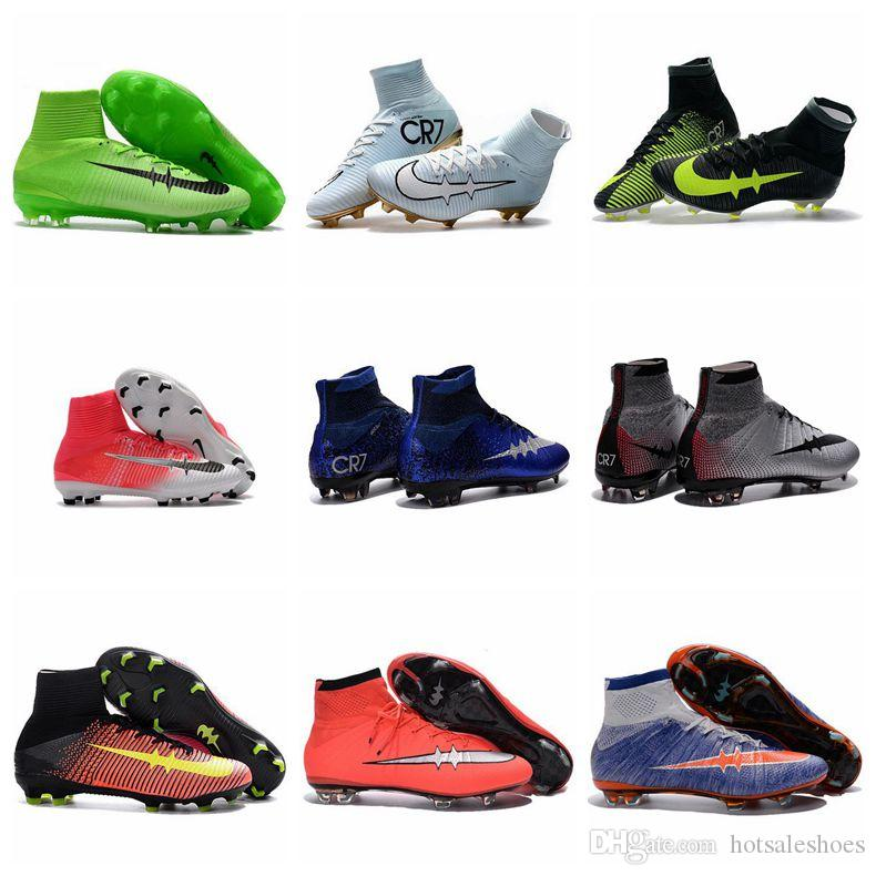 Football Boots Mercurial CR7 Superfly 5 ACC FG Mens Boys Soccer Cleats Youth Women Soccer Shoes Kids Soccer Boots New Cristiano Ronaldo 2017