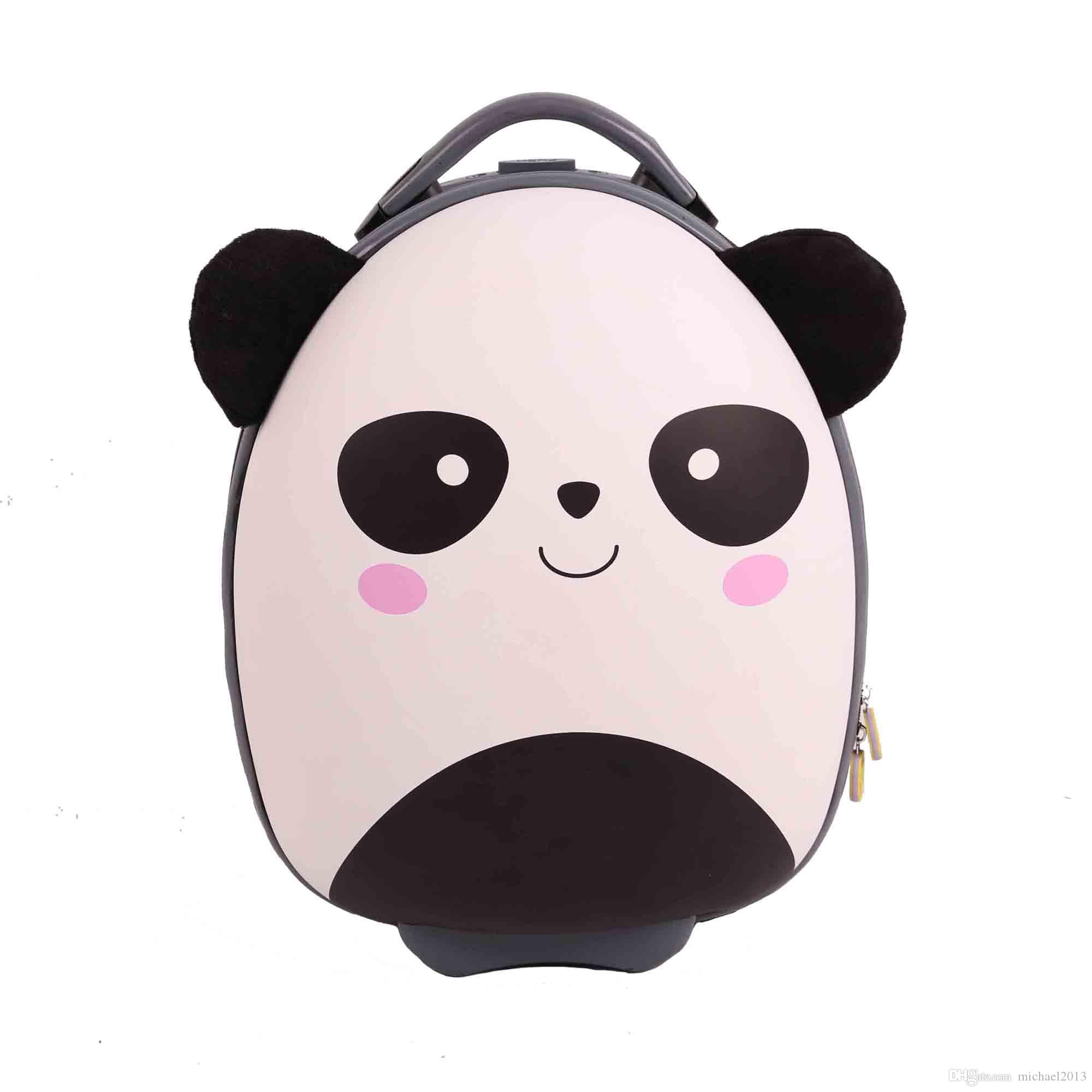 Very Cute Cartoon Children School Bags BB BAG Brand Wheeled Bags Animal Pattern EVA Children's Trolley Cabin Bag Fun Design Travel Luggage