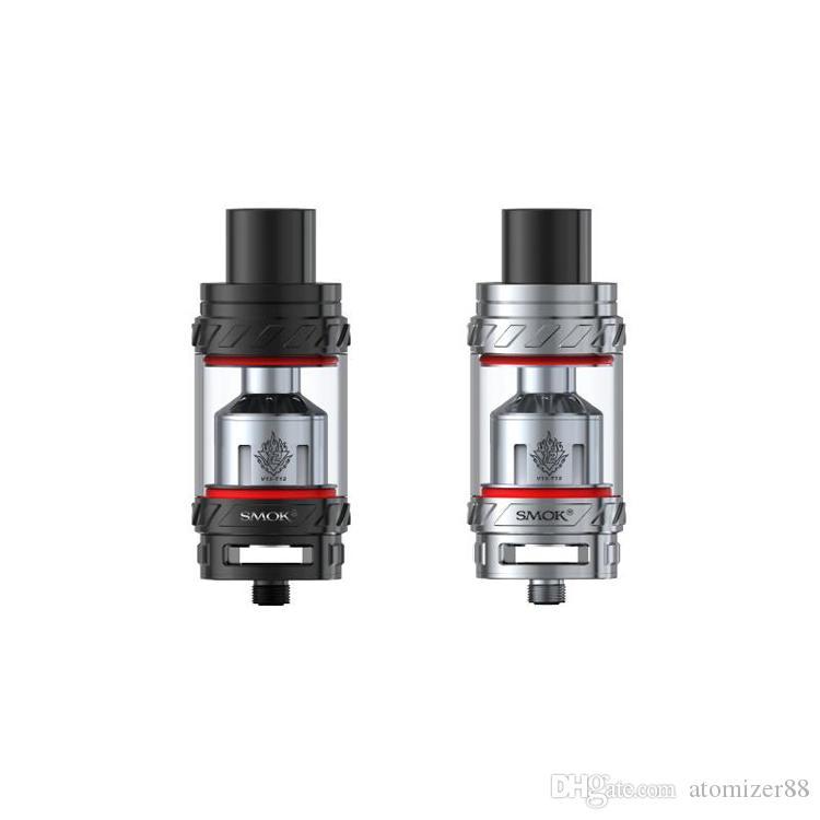 Smok TFV12 Tank 6ML TFV12 Atomizer 4 Colors e cigarettes starter kit vape mod vs SMOK oSub Plus 80W vape pens USPS fast shipping