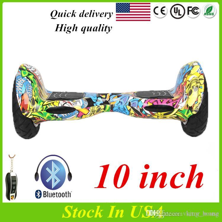 US Stock Bluetooth Hoverboard Smart Balance Wheel 10 Inch Two Wheels Electric Scooters Smart Balance Wheel Self Balancing Scooter For Sale