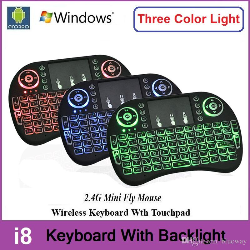 Rii I8 + Wireless Backlight Mini Keyboard Air Mouse Multi-Media Remote With Touchpad Handheld For S905X S912 TV Box TX3 Pro X96 T95