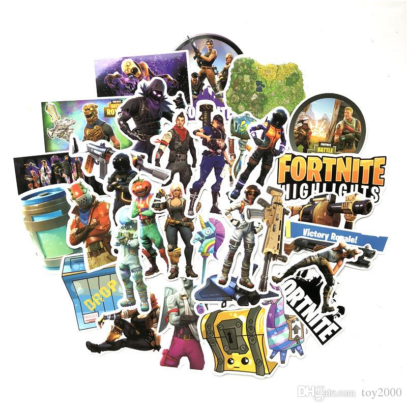 46 pcs/set Game Fortnite Graffiti Sticker Personality Luggage DIY stickers cartoon PVC Wall stickers bag accessories kids toys gift