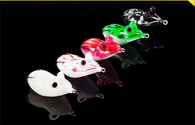 3D Big eyes Soft Rubber Frog Snakehead Fishing Lures 4.5cm 14g Floating Swimming popper Strong Temptation bait