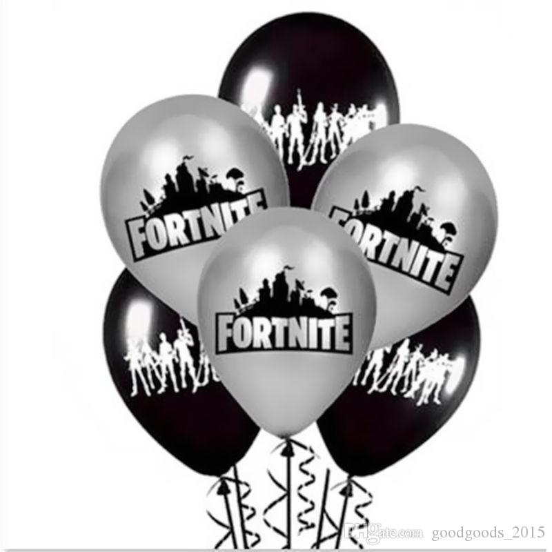 Fortnite Game Fortnight Figure color Latex Balloons Miner Toy Festive Party balloon Decorations Night Supplies DLH029