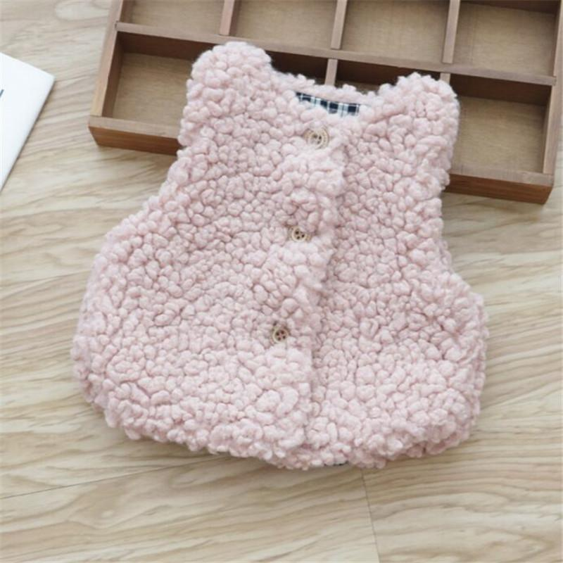 0-4 year baby girl clothing autumn winter fashion Solid warm children girl clothing jacket outerwear coat baby girl vest