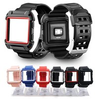 2 in 1 Silicone Strap for Fibit blaze Watch Bands TPU Case C...