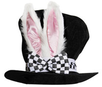 Rabbit Hat Easter Theme Party Hat Velvet Bunny Ear Top Hats ...