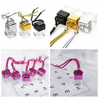 4colors Cube perfume bottle Car Hanging Perfume Rearview Orn...