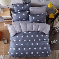 JU Home Bedding Sets White Star Clouds Plaid Twin full queen...