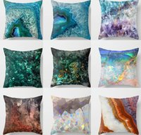 Geometric Cushion Case Marble Pattern Pillow Cover Throw Pil...