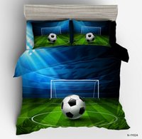 Football Field Bedding sets Sports style duvet cover quilt c...