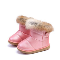 Winter Fashion child girls snow boots shoes warm plush soft ...
