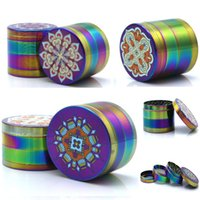 New Mandala Series Herb Grinder Colorful Printing Aluminum 4...