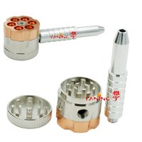12pcs lot BULLET ROTATING PIPE style tobacco grinder metal h...