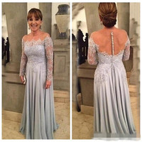 Latest Mother of the Bride Dresses Plus Size 2018 Long Sleev...