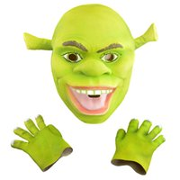 Wholesale- Halloween Props Adult Shrek Masks Animal Full Late...